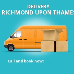 TW10 point to point delivery Richmond upon Thames
