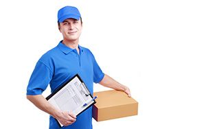 Shoreditch package delivery companies EC2 dhl