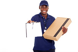Cinderford package delivery companies GL14 dhl